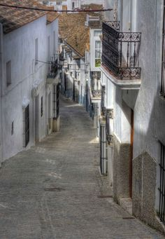 Street in Medina Sidonia, Andalusia_ Spain