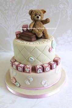 Steiff teddy christening cake