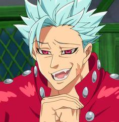 Esse sorriso..🤩 Anime Angel, Anime Demon, Seven Deadly Sins Anime, 7 Deadly Sins, Ban Anime, Animé Fan Art, Noragami, 7 Sins, Anime Characters