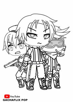Gacha Life Coloring Pages. Unique Collection. Print for
