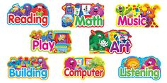 Furry Friends Primary Center Signs Mini Bulletin Board Set (T-8733) #classroom #decor #AILtyler