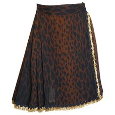 brown Leopard GIANNI VERSACE Skirt - Vestiaire Collective