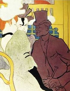 Englishman at Moulin Rouge - Henri de Toulouse Lautrec