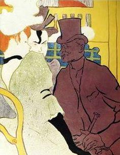Englishman at Moulin Rouge - Henri de Toulouse Lautrec