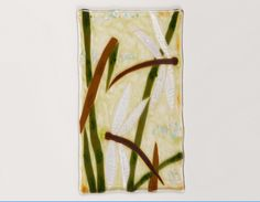"""Dragonflies - 7"""" by 12"""" fused glass panel in stand by Linda Warwick Smith"""