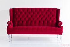 Sofá Barocco rojo 190cm