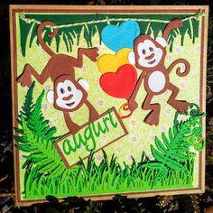 La Città di Carta: Auguri scimmiosi - Affige Glückwünsche