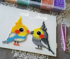 Birds hama mini beads by renk__ahenk More