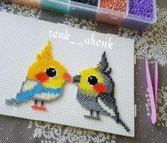 Birds hama mini beads by renk__ahenk More