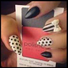 Black white nail design ideas