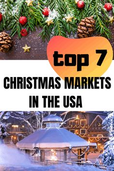 In this article, you will find out what are the 7 best Christmas markets in the USA. German Christmas Markets, Christmas Travel, Christmas Vacation, Holiday Travel, Christmas Holidays, Christmas Getaways, Christmas Storage, Winter Travel, Xmas