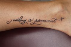 "Buddhist wisdom tattoos  ""nothing is permanent""... Am I the only one who found this hilariously ironic?"