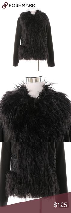 d0a6746ec1f Plenty by Tracy Reece Jacket Black jacket with faux fur trim. Fully lined.  Plenty by Tracy Reese Jackets   Coats