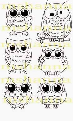 16 Trendy how to draw an owl fun - Eule Owl Crafts, Paper Crafts, Owl Patterns, Owl Art, Digital Stamps, Pebble Art, Stone Art, Stone Painting, Rock Painting