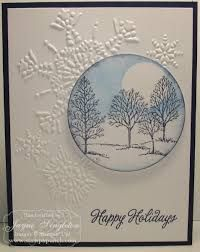 Image result for card using northern flurry embossing folder and lovely as a tree stamp