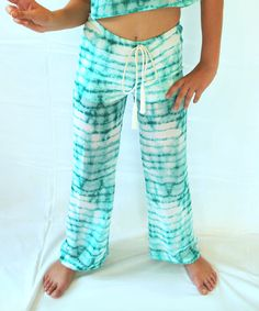 Look at this #zulilyfind! Love & Sunflowers Sea Green Tie-Dye Island Flare Pants - Kids & Tween by Love & Sunflowers #zulilyfinds