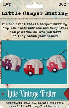 Canned Ham Camper Bunting Pattern E-pattern. $6.00, via Etsy.