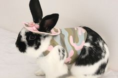 Pink camouflage harness  for your pet bunny rabbit. by turvytopsy, $30.03