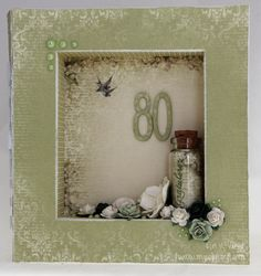 Frame card for 80th birthday. Papers by Pion Design.