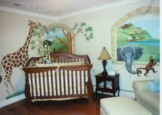noah's ark nursery   ... up the space as you can see in this Noah's Ark themed nursery mural