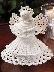 Stitch a beautiful crochet angel for the holidays or to be used year-round. Kit includes enough size 10 crochet cotton to make 1 angel. Project is made using a size steel crochet hook. Finished angel is tall including Halo. Crochet Christmas Ornaments, Christmas Crochet Patterns, Holiday Crochet, Crochet Snowflakes, Christmas Angels, Christmas Mood, Christmas Ideas, Christmas Decorations, Christmas Bells