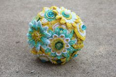 Custom Color 12 Stem Bridesmaid Felt and Button by RBKCreations, $75.00