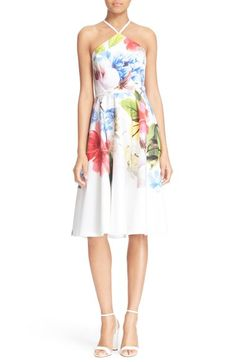 Ted Baker London 'Corpina' Floral Print Fit & Flare Dress available at #Nordstrom