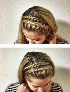 Double braided headband would probably make me look like a child.