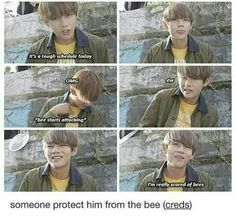 Aw V I'll protect you!!! XD is it weird that I find this super cute?