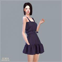 Belt Sleeveless Mari Dress at Marigold via Sims 4 Updates Check more at http://sims4updates.net/clothing/belt-sleeveless-mari-dress-at-marigold/