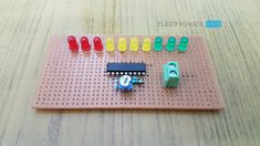 This is a simple battery charge level indicator circuit and is very useful to calibrate inverter status, to measure car battery level, etc. Diy Electronics, Electronics Projects, Gold Map, Electronic Circuit Projects, Circuit Design, Circuit Diagram, Diy Home Crafts, Kids Rugs, Digital