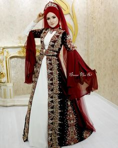 Modest Outfits, Modest Fashion, Hijab Fashion, Dress Outfits, Fashion Outfits, Modest Clothing, Disney Wedding Dresses, Hijab Bride, Pakistani Wedding Dresses