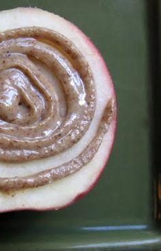 My Favorite Health Snack--Apple  Maple Almond Butter   New Nostalgia