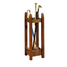 Mission Collection Small Umbrella Stand  WOOD SPECIES:  Oak  DIMENSIONS:  H33 1/2 W11 1/2 D11 1/2    DESCRIPTION:  One galvanized metal tray.