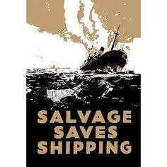 Buyenlarge Salvage Saves Shipping by E. Oliver Vintage Advertisement Size: