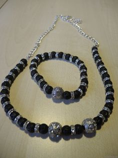Halskette Lavaperlen