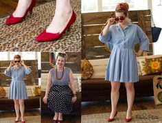 Vintage, Pin-Up fashion from The Grey Dog. I wish I could pull off this look!