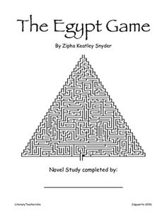 LitPlan Teacher Pack For The Egypt Game--Complete unit of