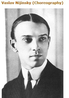 Nijinsky was a Russian ballet dancer and choreographer of Polish descent. Nijinsky was one of the most gifted male dancers in history.  His  ability to perform seemingly gravity-defying leaps was legendary.  Nijinsky met Sergei Diaghilev, a celebrated and highly innovative producer of ballet and opera  In 1909, Diaghilev took his dance company, the Ballets Russes, to Paris, with Nijinsky and Anna Pavlova as the leads.