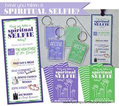 "My Computer is My Canvas: {FREEBIE!} ""Spiritual Selfie"" Key Chains & Bookmarks"