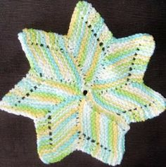 Best dishcloths in the world!  The pattern can be altered easily for those with smaller or bigger hands.