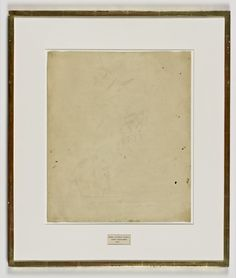 Robert Rauschenberg, 'Erased de Kooning Drawing,' 1953,Traces of drawing media on paper with label and gilded frame, San Francisco Museum of Modern Art (SFMOMA)