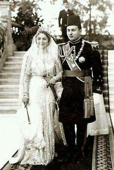 King Farouq & queen Farida #Egypt @@@@.....http://www.pinterest.com/hansatingsuwan/royals-wedding/