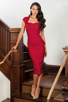 Stop Staring Uma Dress Red 100 20 12295