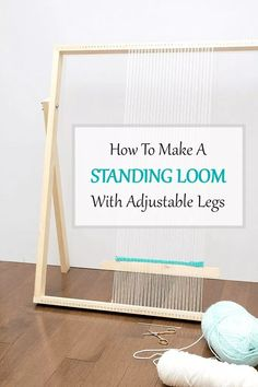 How To Make a Standing Loom With Adjustable Legs: This simple, straightforward DIY loom tutorial is intended to get you weaving in no time. loom diy How To Make a Standing Loom With Adjustable Legs - A Pretty Fix Hobbies And Crafts, Diy And Crafts, Rug Loom, Weaving Loom Diy, Loom Weaving Projects, Weaving Art, Adjustable Legs, Tapestry Weaving, Weaving Techniques