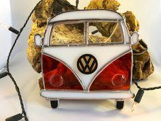 VW Orange Campervan Retro Bus Stained Glass Suncatcher, Wall Art, Home Decor, Love Dub Gift, Volky Camper, Volkswagen, Birthday Gift Driver by MrBrinkleysStudio on Etsy
