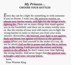 My princess...Choose Your Battles