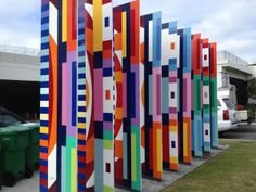 Visual Welcome Large Sculpture By Yaacov Agam size large aluminum metal sculpture original art painting created in Yaacov Agam, Metal Signage, 6th Grade Art, Kinetic Art, Painting Collage, Jewish Art, Abstract Photography, Op Art, Public Art