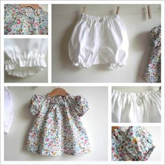 Liberty Betsy Porcelaine | Baby bloomer and top