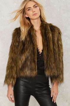 That's the Way Faux Fur Jacket